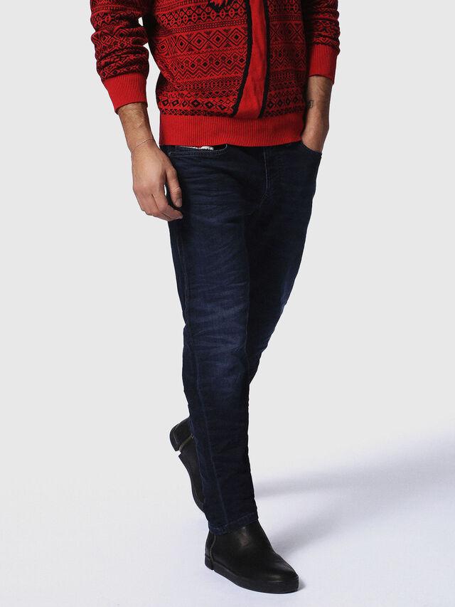 Diesel - Waykee JoggJeans 0842W, Blu Scuro - Jeans - Image 1