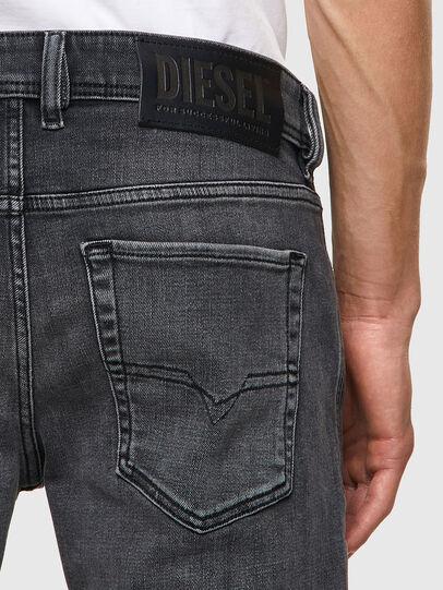 Diesel - Sleenker 09A18, Nero/Grigio scuro - Jeans - Image 3