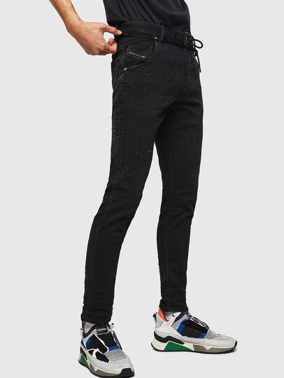 Diesel - Krooley JoggJeans 0092N, Nero/Grigio scuro - Jeans - Image 5