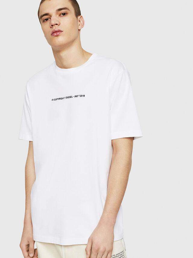 Diesel - T-JUST-COPY, Bianco - T-Shirts - Image 1