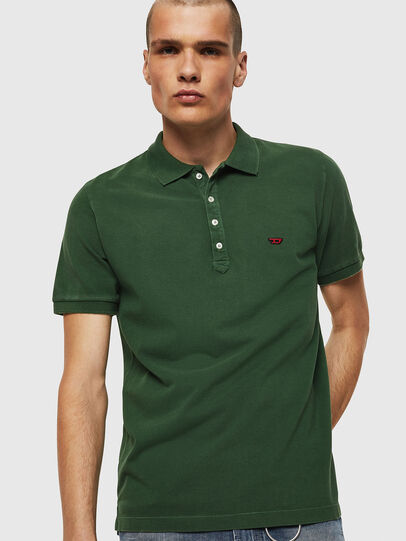 Diesel - T-NIGHT-NEW, Verde Scuro - Polo - Image 1