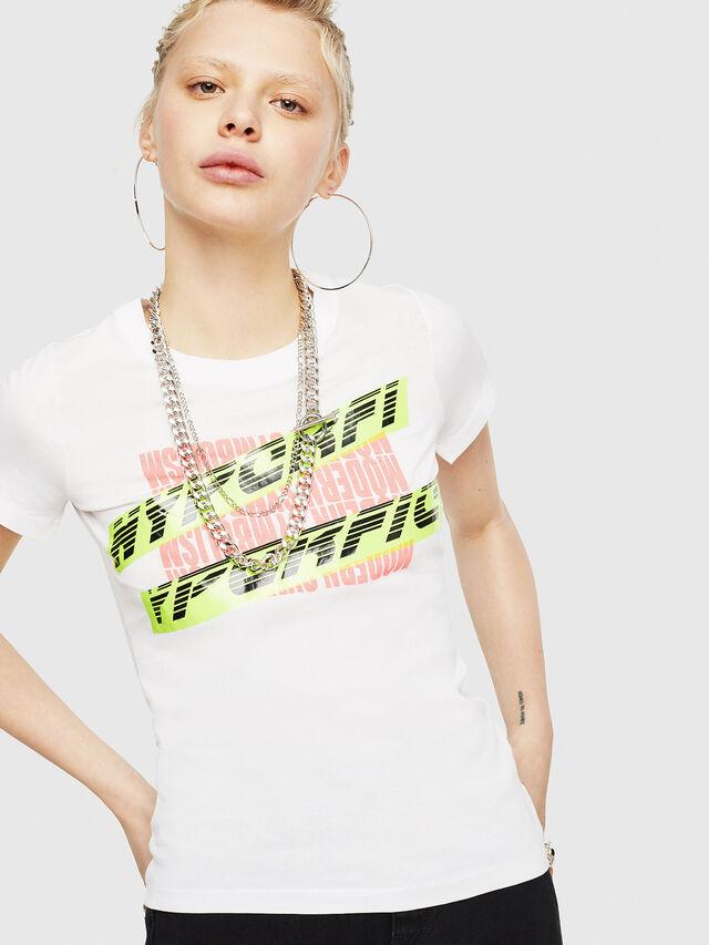 Diesel - T-SUPERY-C, Bianco - T-Shirts - Image 1