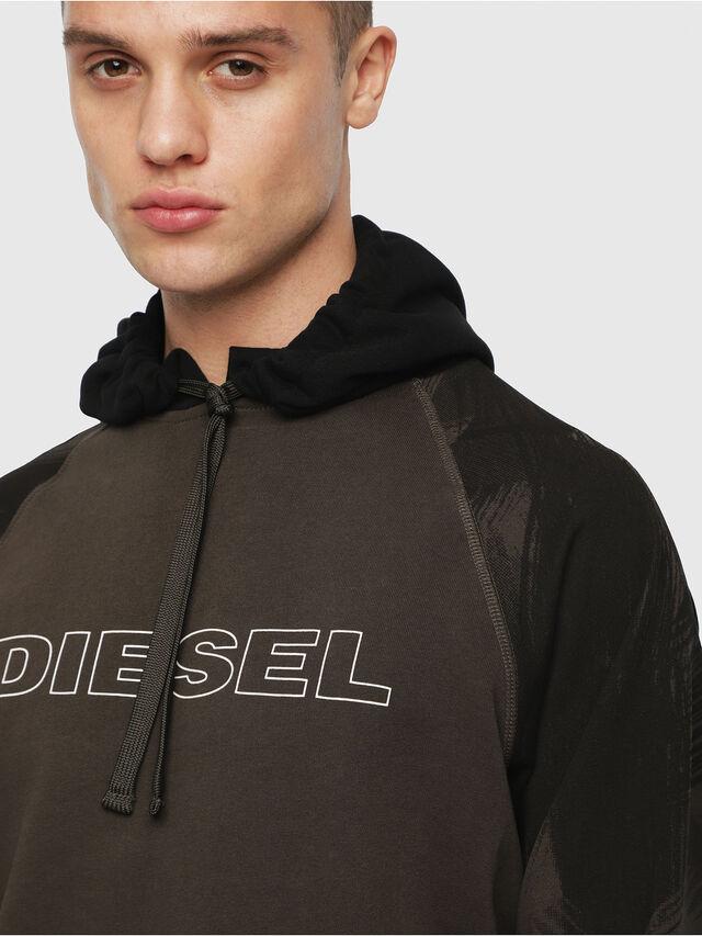 Diesel - UMLT-BRIAN, Verde Militare - Felpe - Image 3