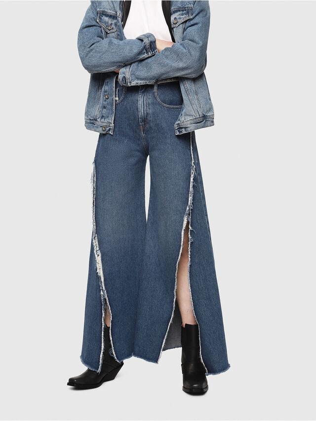 Diesel - D-Izzier 080AN, Blu medio - Jeans - Image 1