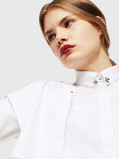 Diesel - C-RAILY-SHAPED, Bianco - Camicie - Image 6