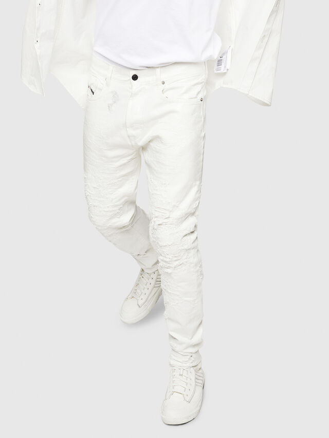 Diesel - Mharky 069GY, Bianco - Jeans - Image 4