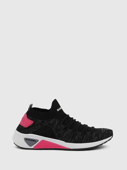 Diesel - S-KB ATHL LACE W, Nero/Rosa - Sneakers - Image 1
