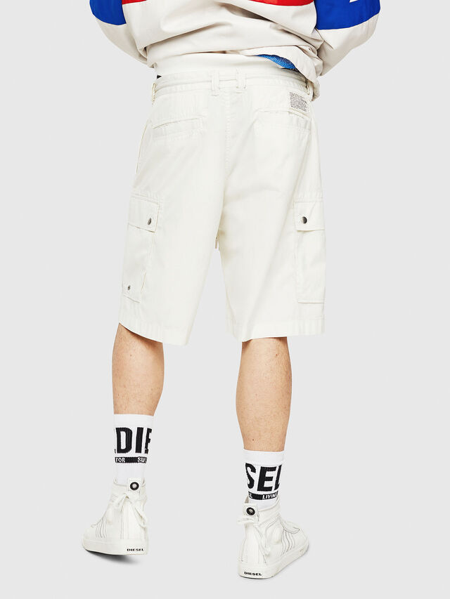 Diesel - P-AIMI-P, Bianco - Shorts - Image 2