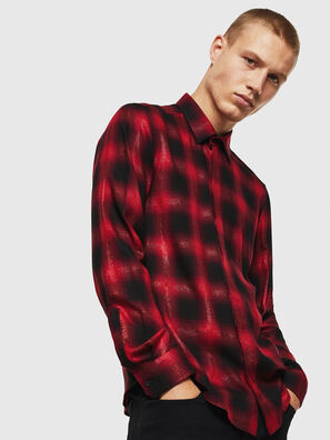 S-MARLENE-C, Rosso/Nero - Camicie