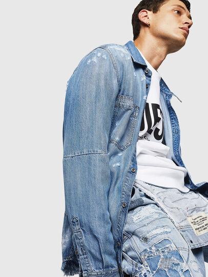 Diesel - D-FRED, Blu Chiaro - Camicie in Denim - Image 7