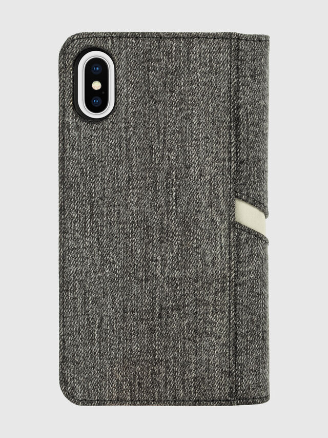 Diesel - DIESEL 2-IN-1 FOLIO CASE FOR IPHONE XS & IPHONE X, Grigio - Cover a libro - Image 2