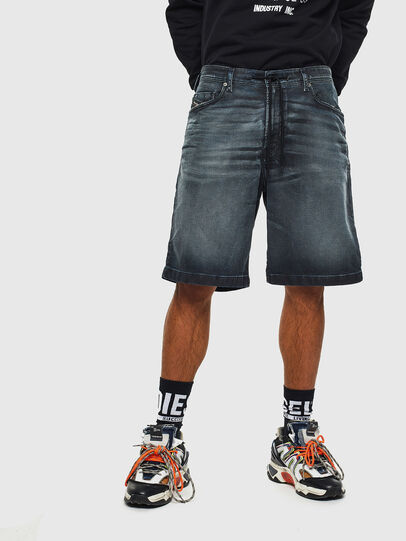 Diesel - D-WILLOH CB JOGGJEANS, Blu Scuro - Shorts - Image 1