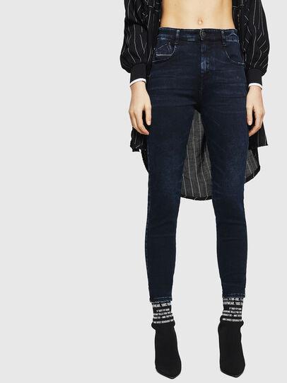 Diesel - Slandy High 082AU, Blu Scuro - Jeans - Image 1