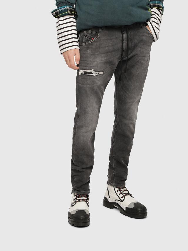 Diesel - Krooley JoggJeans 069EM, Nero/Grigio scuro - Jeans - Image 1