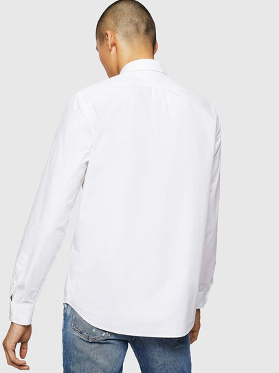 Diesel - S-MOI-R-BW, Bianco - Camicie - Image 2
