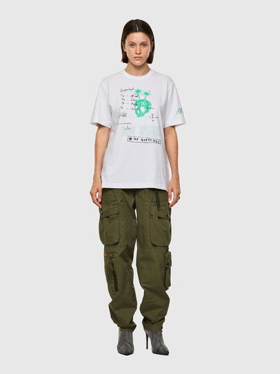 Diesel - T-JUST-B61, Bianco - T-Shirts - Image 8