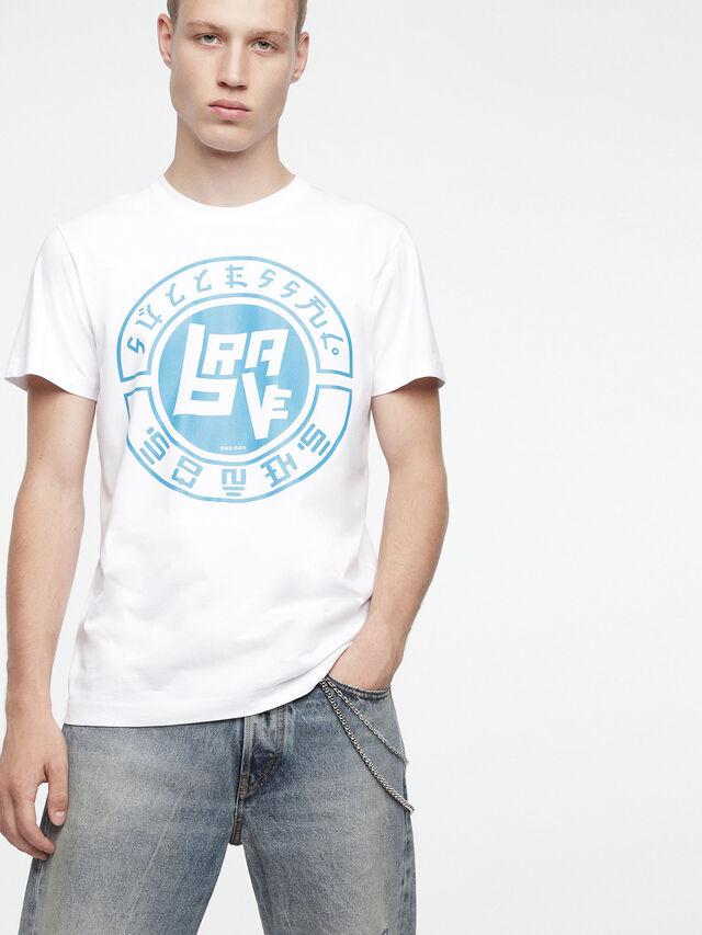 Diesel - T-DIEGO-XC, Bianco - T-Shirts - Image 1