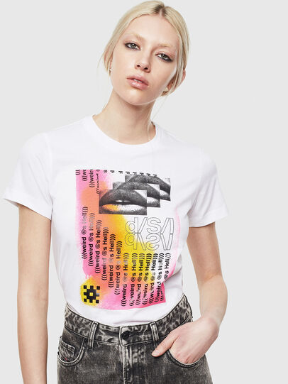 Diesel - T-SILY-S5, Bianco - T-Shirts - Image 4
