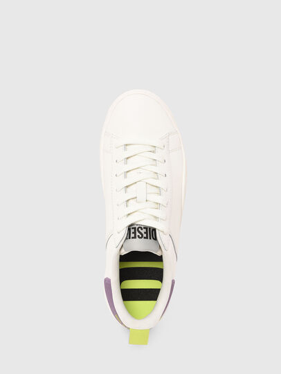 Diesel - S-CLEVER LOW LACE W, Bianco/Viola - Sneakers - Image 5
