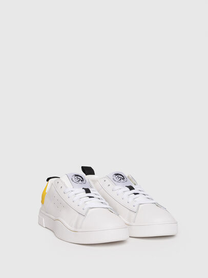 Diesel - S-CLEVER LOW W, Bianco/Giallo - Sneakers - Image 2