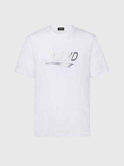 Diesel - T-JUST-SLITS-X83, Bianco - T-Shirts - Image 1