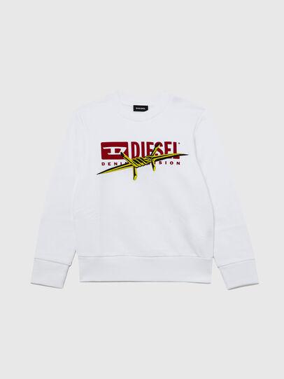 Diesel - SBAYBX5, Bianco - Felpe - Image 1