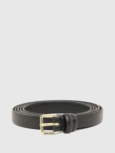 Cintura a doppio giro con fibbia con logo