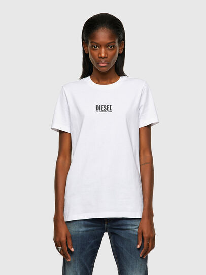 Diesel - T-SILY-ECOSMALLOGO, Bianco - T-Shirts - Image 1