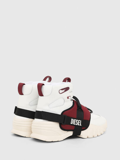 Diesel - S-SHARQUEZ MID, Bianco/Rosso - Sneakers - Image 3
