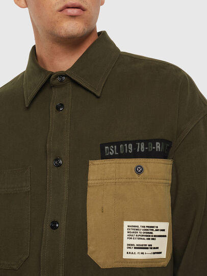 Diesel - S-LEBED, Verde Scuro - Camicie - Image 3
