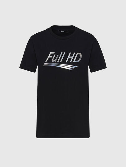 Diesel - T-SILY-E56, Nero - T-Shirts - Image 1