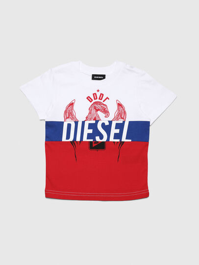 Diesel - TRICKYB-R, Bianco/Rosso/Blu - T-shirts e Tops - Image 1