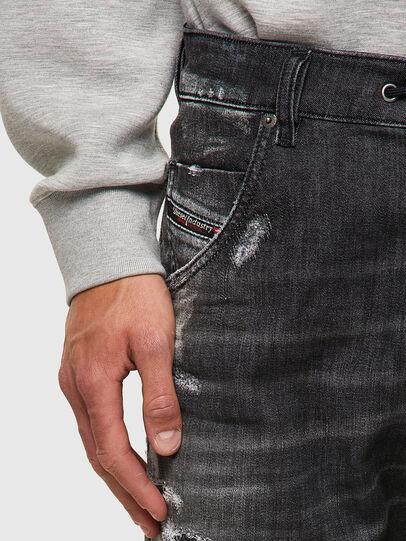 Diesel - Krooley JoggJeans® 09B53, Nero/Grigio scuro - Jeans - Image 4