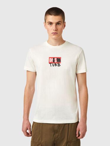 T-shirt Green Label con logo DISTURB