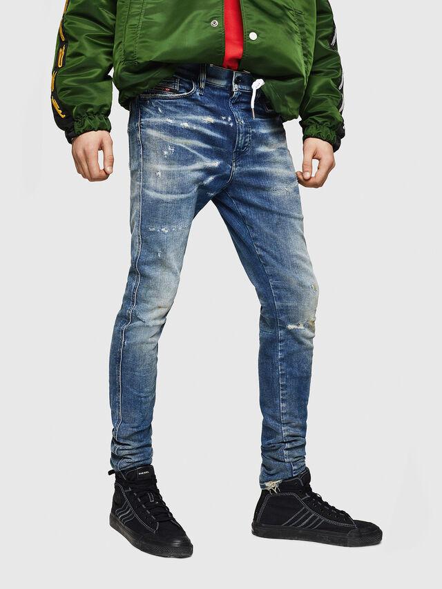 Diesel - D-Reeft JoggJeans 0870Q, Blu medio - Jeans - Image 1