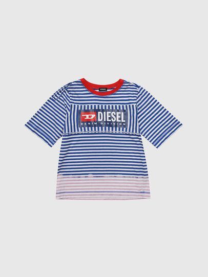 Diesel - TJVANE, Blu/Bianco - T-shirts e Tops - Image 1