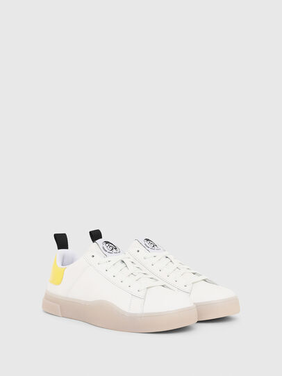 Diesel - S-CLEVER LOW LACE W, Bianco/Giallo - Sneakers - Image 2