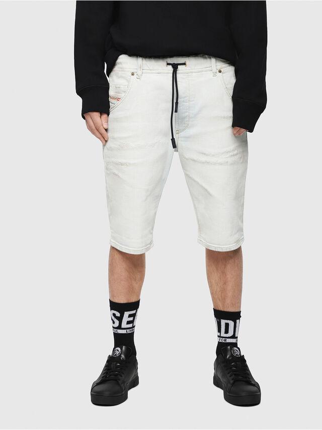 Diesel - D-KROOSHORT-T, Bianco sporco - Shorts - Image 1