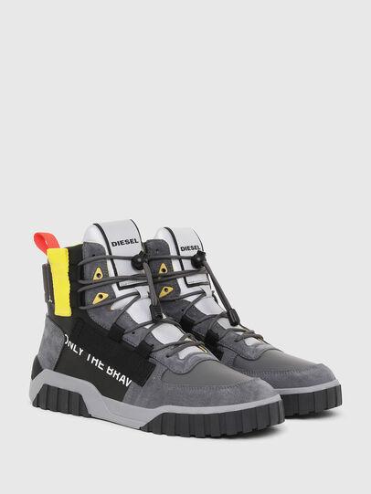 Diesel - S-RUA MID SP, Grigio/Nero - Sneakers - Image 2