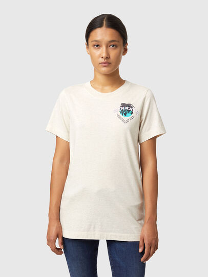 Diesel - T-LILLY-B1, Bianco - T-Shirts - Image 1