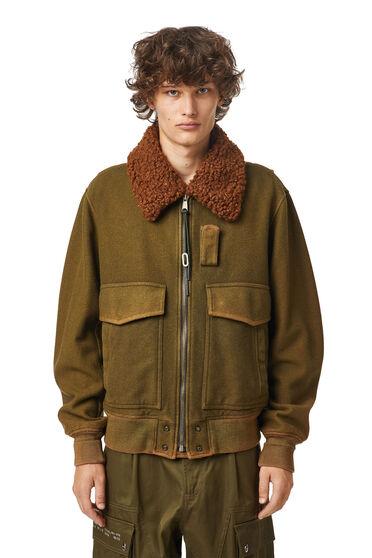 Giacca da aviatore in feltro di lana trattato