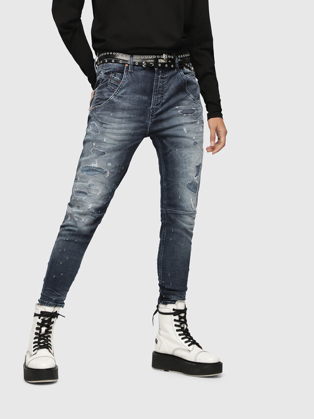 Diesel - Fayza JoggJeans 069CC, Blu Scuro - Jeans - Image 1