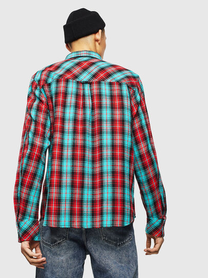 Diesel - S-GERRY-CHECK, Rosso - Camicie - Image 2