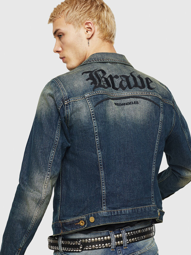 Diesel - D-GALY, Blu Scuro - Giacche in denim - Image 2