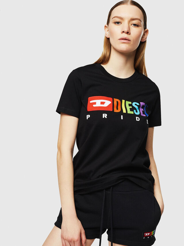 Diesel - UFTEE-SILY-INT, Nero - T-Shirts - Image 1