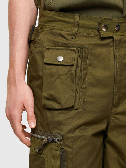 Diesel - P-CYAN-SHORT, Verde Militare - Shorts - Image 4