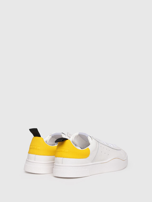 Diesel - S-CLEVER LOW, Bianco/Giallo - Sneakers - Image 3