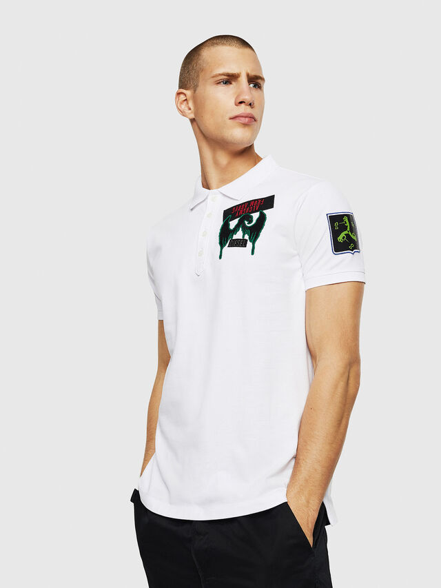 Diesel - T-POLO-PATCHES, Bianco - Polo - Image 4