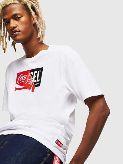 Diesel - CC-T-JUST-COLA, Bianco - T-Shirts - Image 3