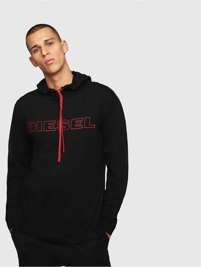 Diesel - UMLT-JIMMY, Nero/Rosso - T-Shirts - Image 1